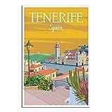 Teneriffa-Poster, Spanien, Vintage, Reise-Poster,