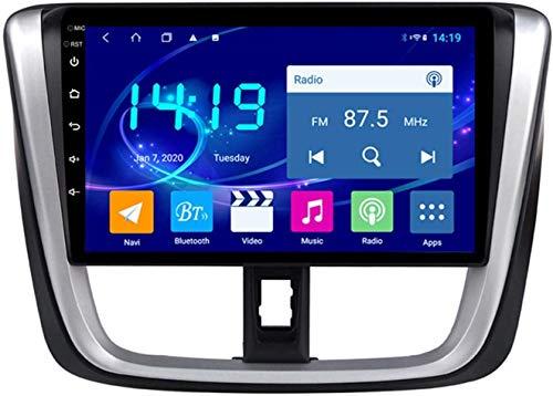 AEBDF Android 9.1 Navegación estéreo para automóvil para Toyota VIOS 2016-2017,9 PULGA Sat Nav Pantalla TOUCHA TOUCHO Bluetooth Player Multimedia con Enlace de Espejo,4Core WiFi+4G 1+32G