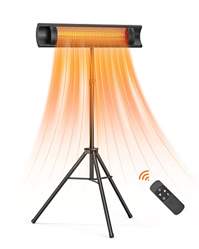 Outdoor Patio Heater, Luwior 1500W Electric Infrared...