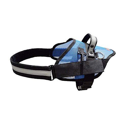 REDLINE K-9 Light Weight Blue Mesh Service and SAR Dog Harness (Medium)