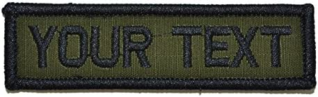 Customizable Text 1x3 Patch w/Hook Fastener Patch - Coyote Brown