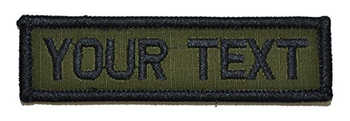 Customizable Text 1x3 Patch w/Hook Fastener Patch - Olive Drab