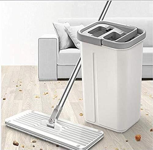 Showgg – Mopa plana para limpieza de suelos en húmedo y seco, universal, no es cansada, fregona giratoria, panel para el hogar