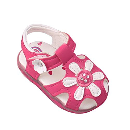Voberry Toddler Baby Kid Girls Soft-Soled Princess Sandals (3-4Years, Hot Pink)