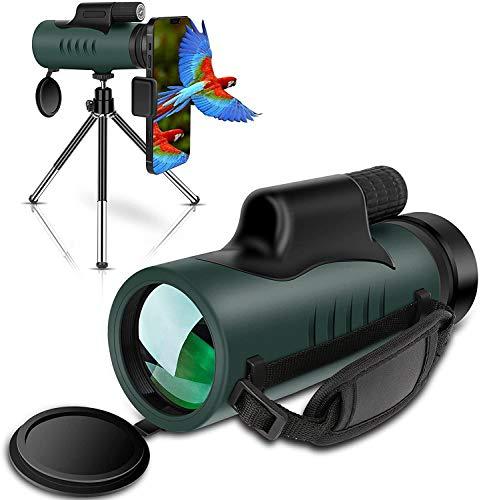 Monokular Fernglas IVSUN 10x42 HD Monokular Teleskop Wasserdicht Handy Fernrohr mit Handy Halterung Stativ für...