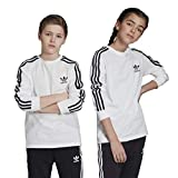 adidas Originals unisex-youth 3-Stripes Tee White/Black...