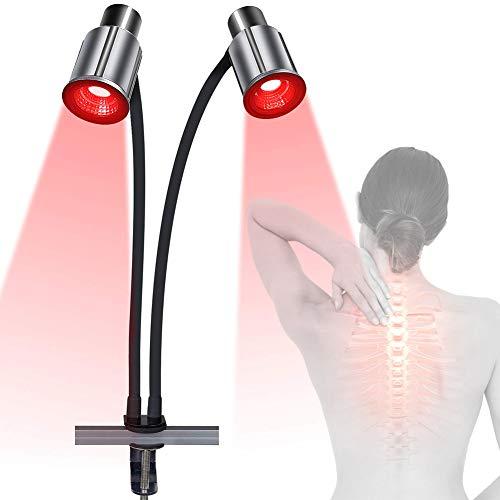 EFGSbed Rote LED Schönheit Lampe, 2PCS LED Rotlichtlampe Hautverjüngung Licht Mit Halterungssatz, Professionelle Therapie Akne Faltenbehandlung Gesicht Körperpflege