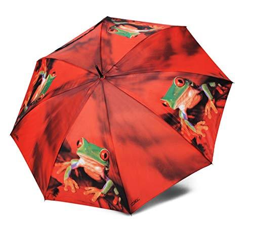 doppler Regenschirm Taschenschirm Frosch Art Collection Auf-Zu Automatik