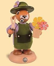 مدخن البخور الألماني عيد الفصح الأرنب بستاني، وارتفاع 18 سم / 7 بوصة، ازرجبرجي الأصلي من قبل مولر سيفين