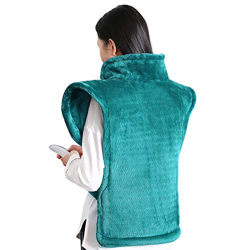 Mothers Day Gifts: MaxKare Electric Heating Pad Neck Shoulder and Back Heating Wrap Back Pain, Sorness, Stress Relief Fast-Heating 5 Temperature Settings Auto Shut Off 24'' x 33''