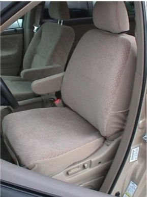 Durafit Seat Covers Made to fit 1999-2004 Honda Odyssey in Tan Automotive Velour.