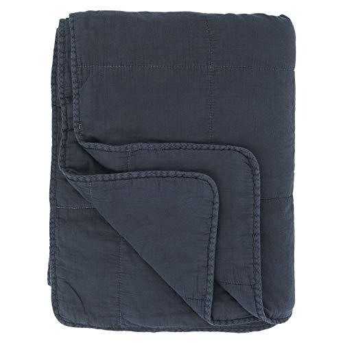 IB Laursen - Quilt - Tagesdecke - Bettüberwurf - Blau Mitternachtsblau - Baumwolle - 130 x 180 cm