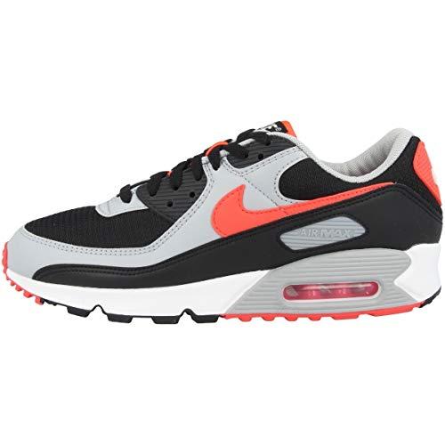 Nike Air MAX 90, Zapatillas Deportivas Hombre, Black Red, 43 EU