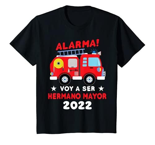 Niños Voy a ser Hermano Mayor 2022 Camión bomberos Camiseta