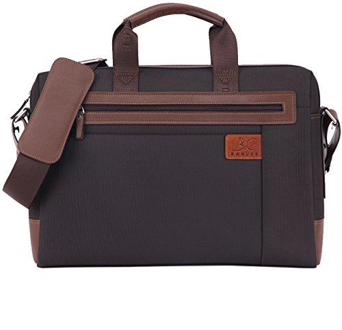 Banuce Oxford Nylon Waterproof Business Messenger Briefcase for Men Slim Shoulder Attache Case