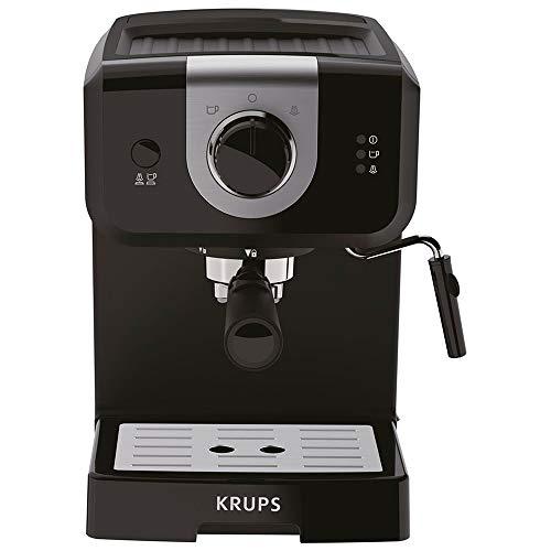 Krups Opio Steam & Pump XP320810 Espresso Coffee Machine, 1.5L, Black, Cappuccino