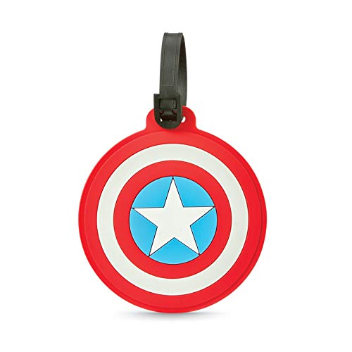 American Tourister Marvel Luggage Tag, Captain America Shield