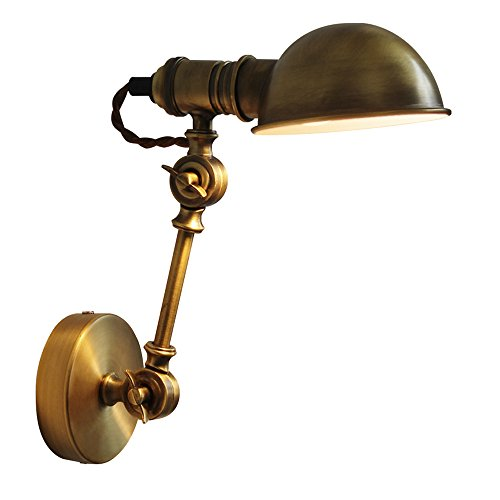 Neilyn Romantique Rétro Style Industriel Loft Réglable Mur Lampe Murale Américain Rural Vintage Fer Applique Bronze Créative Allée Escalier Mur Lanterne E14 Socket (Color : With wire)