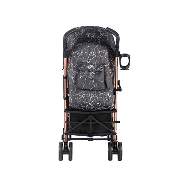 My Babiie Dreamiie by Samantha Faiers MB51 Black Marble Stroller My Babiie Suitable from birth to maximum 15kg Extendable 3 position canopy Lockable swivel front wheels 2