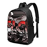 Hdadwy Anime FLCL-Logo Backpack Casual School Bag for Boys and Girls Men and Women Travel Backpack Laptop Backpack Durable Waterproof Computer Bag School Bag