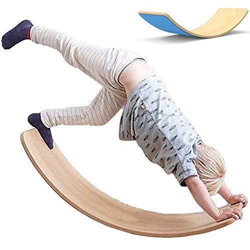 lxfy Holz Balance Board/Kinder Holz Wippe sensorische/Outdoor Yoga Board/Outdoor Spielzeug für Kinder/mit Filz Schicht/Training Balance Toy Indoor gebogenes Brett