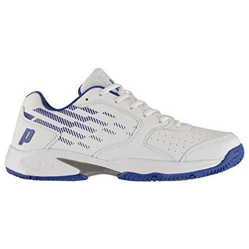 Prince Herren Reflex Tennis Schuhe Turnschuhe Sport Weiß/Blau 44.5 EU