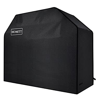 Homitt Gas Grill Cover, 58-inch 3-4 Burner 600D Heavy Duty Waterproof BBQ Grill Cover for Most Brands of Grill -Black