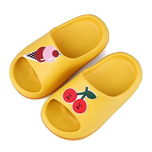 Boys Girls Dibujos animados de dibujos animados Sandalias de diapositivas Non-Slip Summer Beach Shoes de agua Niños Ducha Piscina Zapatillas para el hogar, Softler Lightweight Bath Bath Bath Sky Skill