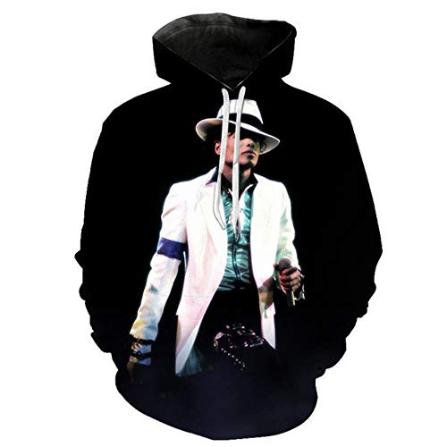NILOVEDE Michael Jackson Hoodies Sweatshirt Jacke Männer Frauen Kinder Langarm Pullover Lustiger 3D Print Trainingsanzug Streetwear Hoody, XL