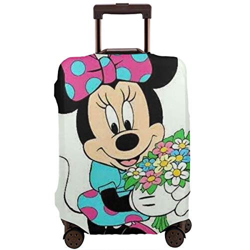 Travel Luggage Cover Anime Color Mickey Mouse Minnie Suitcase Covers Protectors Zipper Washable Baggage Luggage Covers Fits L