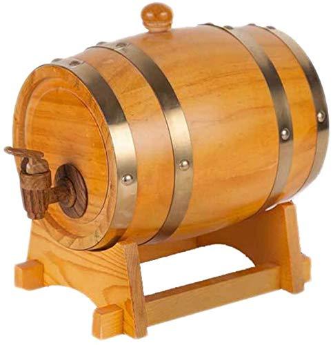 YAOSHUYANG Barril de roble, barril de vino, vino blanco cerveza barril decoración 1.5L3L5L10L15L vino, cerveza, sidra, whisky (color: C, tamaño: 15L)