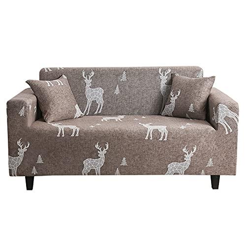 MKQB Funda de sofá telescópica elástica, Funda Protectora de sofá de combinación de Esquina en Forma de L para Sala de Estar, Antideslizante, Envuelto herméticamente NO.7 L (190-230cm)