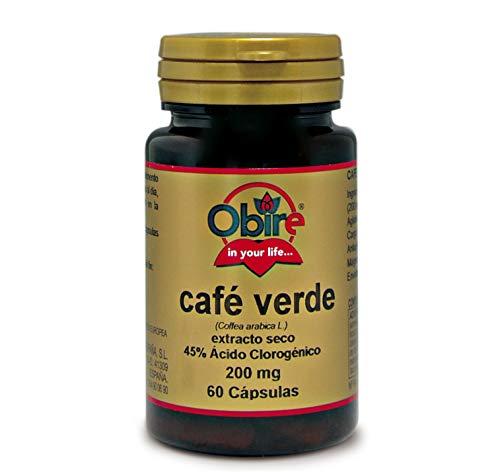 Café verde 200 mg. (ext. seco 45% ácido clorogénico) 60 capsulas