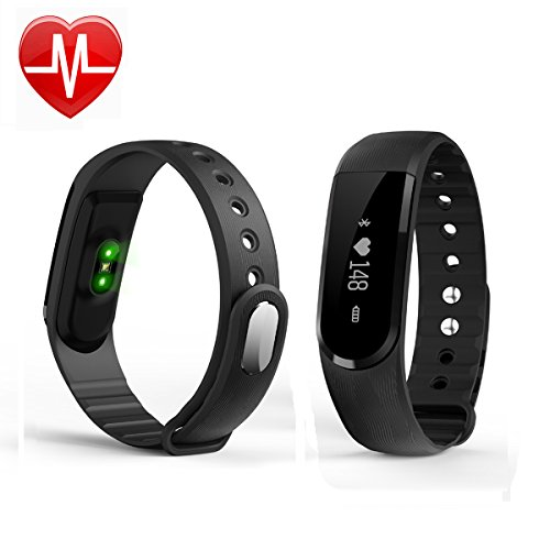 Fitness Armband GanRiver Fitness Tracker mit Herzfrequenz Monitor,Sports tracker Pulsuhr Aktivitätstracker Schrittzähler Smart Watch Schlaf Monitor KalorienZähler für iPhone IOS und Android Handy