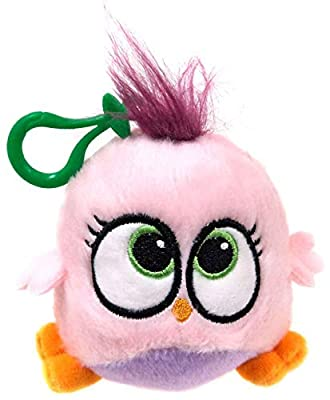 Rovio Angry Birds Hatchlings Pink & Purple 4-Inch Plush Clip On