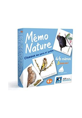 Le jeu Mémo Nature Oiseaux des parcs et jardins