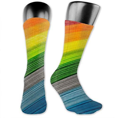 Nice-Guy Calcetines con estampado de rayas de color arcoíris Calcetines coloridos unisex para adultos