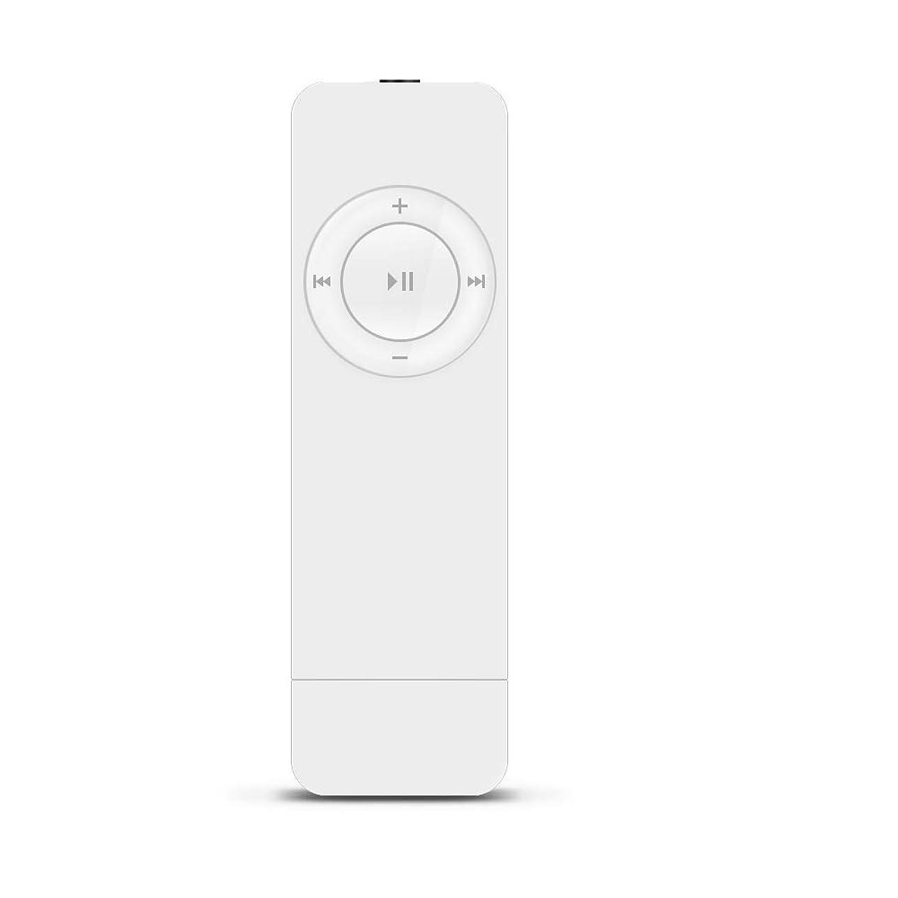 海永遠の月曜日MP3プレーヤーデジタルオーディオプレーヤー8GB内蔵小型超軽量音楽プレーヤーコンパクトUSB接続充電式HIFI高音質イヤホン付き携帯に便利スポーツ 日常 レジャー アウトドア オフィス用 (ホワイト)