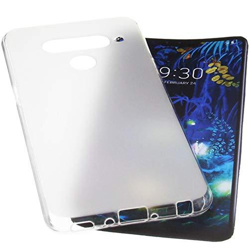 foto-kontor Tasche für LG V50 ThinQ 5G Hülle Gummi TPU Schutz Handytasche transparent
