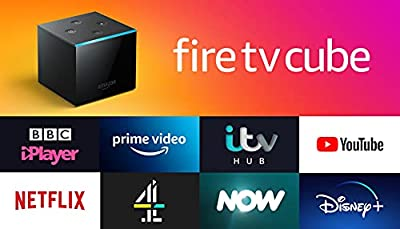 Fire TV Cube | Hands free with Alexa, 4K Ultra HD streaming media player by Amazon