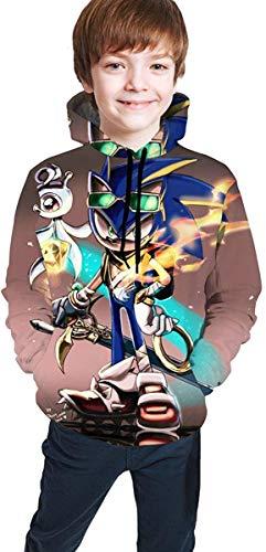 HGdggvd Sonic The Hedgehog Hoodie Jungen Mädchen Kinder 3D Print Unisex Pullover Sweatshirts