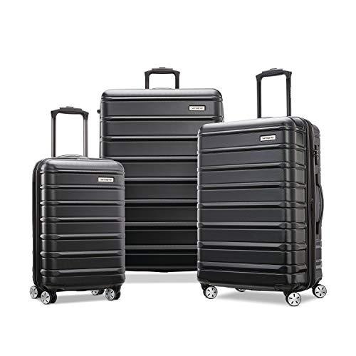 Samsonite Omni 2 Hardside Expandable Luggage with Spinner Wheels, Midnight Black, 3-Piece Set (20/24/28)