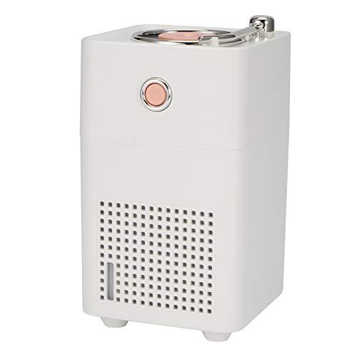 SZHWLKJ Blanco 300 ml retro humidificador de aire portátil difusor de agua oficina hogar Mist Maker Fogger con luz LED USB carga