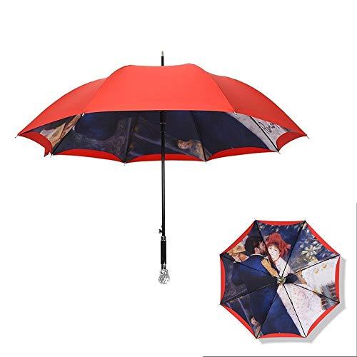 TXOZ Regenschirm Windsicher Regenschirm lange Gerade Golf Regenschirm Sonnenschirm umge Regenschirm Handgemachte Regenschirm-gerades Regenschirm Square-Schirm Wasserdichte Sonnenschutz Zwei Personen 8