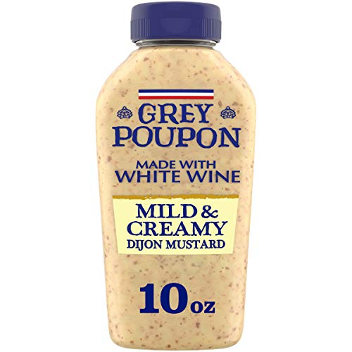 Grey Poupon Dijon Mild & Creamy Mustard (10 oz Squeeze Bottles, Pack of 8)