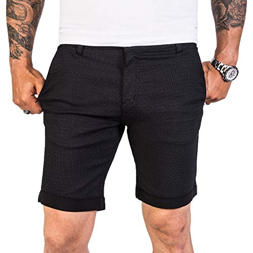 Rock Creek Designer Chino Shorts Herren Short Sommerhose Elegant Bermuda Kurz Herrenhose Anzugsshorts Herrenshorts Bermudas RC-2204 Schwarz W30