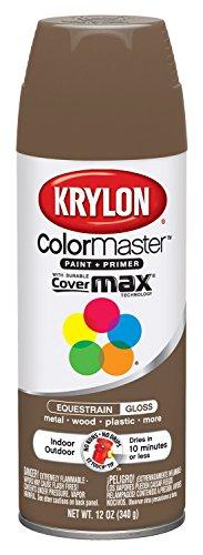 Divisi-n Krylon 53553 Equestrian Brown Interior / Exterior Decorador pintura de aerosol - Pack de 6