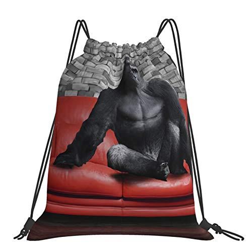 Nicegift Mochila grande con cordón Gorilla adecuada para viajes de fitness y deportes y escalada de montañas