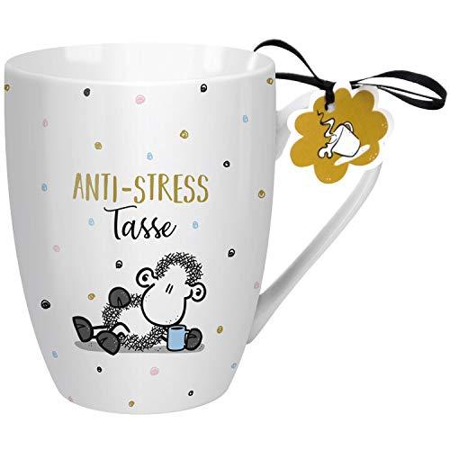 Sheepworld 59609 Lieblingstasse Anti-Stress, Geschenk, Porzellan, 30 cl Tasse