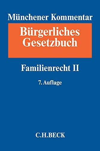 Münchener Kommentar zum Bürgerlichen Gesetzbuch Bd. 9: Familienrecht II, §§ 1589-1921, SGB VIII